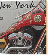 Occ Fdny Motorcycle Wood Print