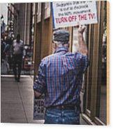 Occupy Chicago V Wood Print
