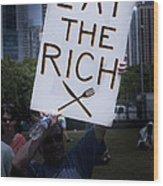 Occupy Chicago Vii Wood Print