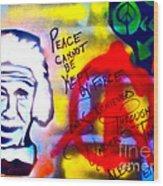 Occupy Einstein Wood Print