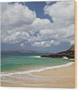 Ocean And Sky Of Makena Beach Wood Print