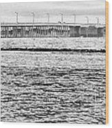 Ocean City Bridge Wood Print