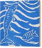 Ocean Fun Wood Print by Marita McVeigh