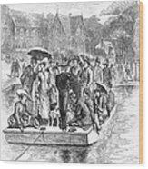 Ocean Grove Ferry, 1878 Wood Print