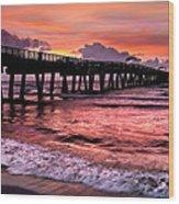 Ocean Lace Wood Print