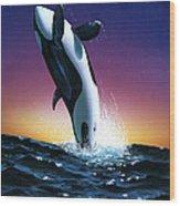 Ocean Leap Wood Print