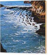 Ocean Lines Wood Print