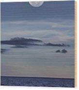 Ocean Moon Wood Print