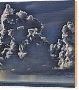 Ocean Rains Wood Print