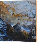 Shell Beach Ocean Tunnel Wood Print