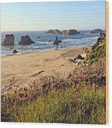 Bandon Oregon Shorelines Wood Print