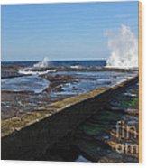 Ocean View Wood Print by Kaye Menner