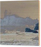 Ocean Waves On The Oregon Coast Wood Print