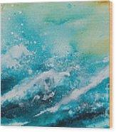 Ocean's Melody Wood Print