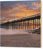 Oceanside Sunset 7 Wood Print