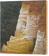 Ochre Quarry Of Roussillon, Provence Wood Print