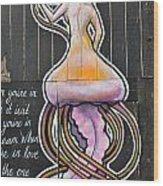 Octo-woman Wood Print
