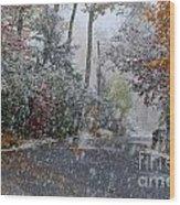 October Blizzard Wood Print