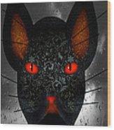 October Cat  Wood Print