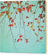 October Greetings Wood Print by Sharon Coty