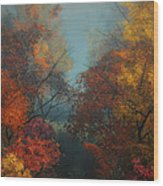 October Wood Print by Jutta Maria Pusl