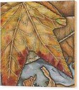 October Wood Print by Nora Blansett