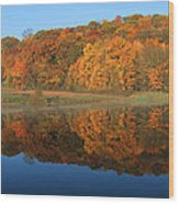 October Scene Wood Print