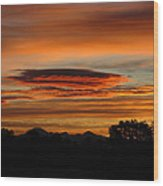 October's Colorful Sunrise 2 Wood Print
