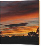 October's Colorful Sunrise Wood Print