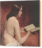 Odalisque With Book Wood Print by Pg Reproductions