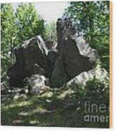 Oe Rocks Wood Print