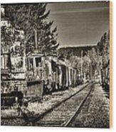 Off Track Wood Print