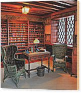 Office At Gillette Castle Wood Print