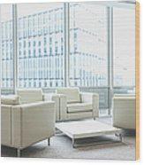 Office Interior Wood Print