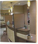 Office Reception Area Wood Print