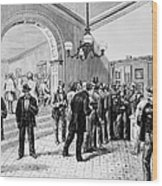 Office-seekers, 1877 Wood Print