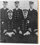 Officers Of The Titanic, 1912 Wood Print