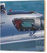 Offshore Racer Cockpit Wood Print