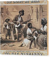 Oh Carry Me Back To Ole Virginny, 1859 Wood Print