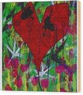 Oh My Green Heart Wood Print