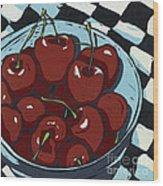 Oh So Sweet - Linocut Print Wood Print by Annie Laurie