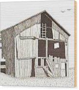 Ohio Barn Wood Print by Pat Price