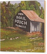 Ohio Mail Pouch Barn Wood Print