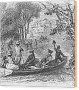 Ohio River: Emigrants Wood Print