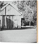 Ohio Shed Bw Wood Print