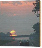 Ohio Sunrise Wood Print