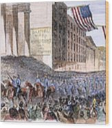 Ohio: Union Parade, 1861 Wood Print