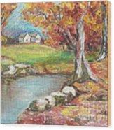 Oil Pastel Wood Print