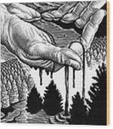 Oil Pollution Wood Print by Bill Sanderson
