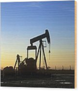 Oil Well Pump Wood Print